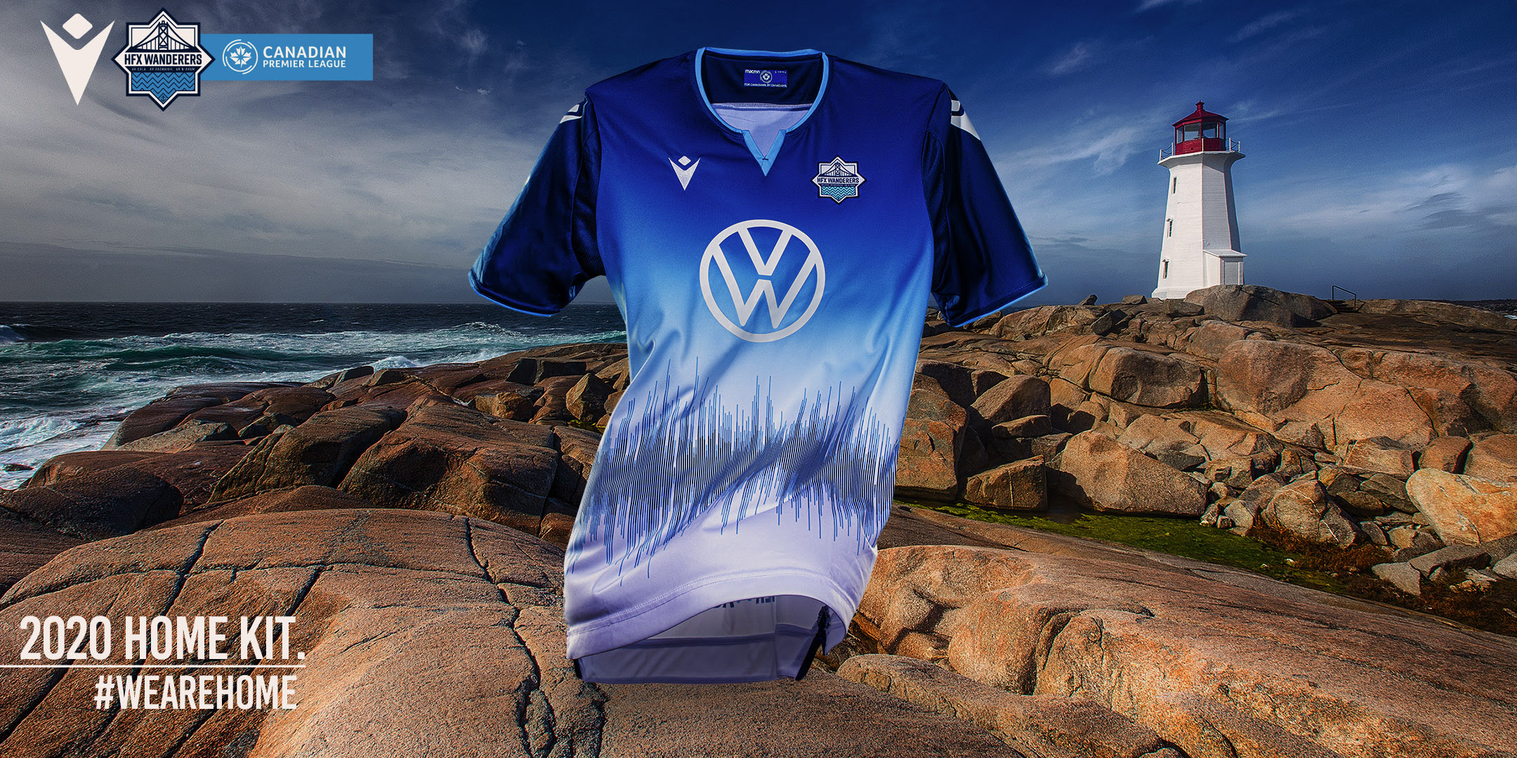 Wanderers Unveil The Team S Brand New Macron Designed 2020 Home Kit Halifax Wanderers