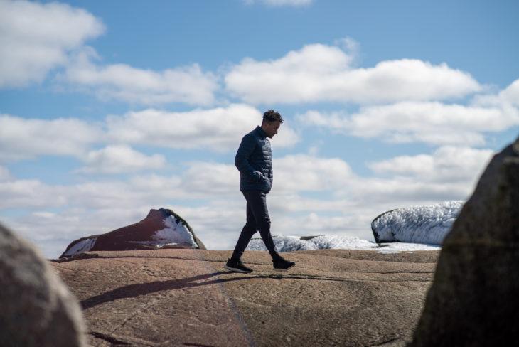 Morey Doner visits Peggy's Cove, Nova Scotia. (Dylan Lawrence)