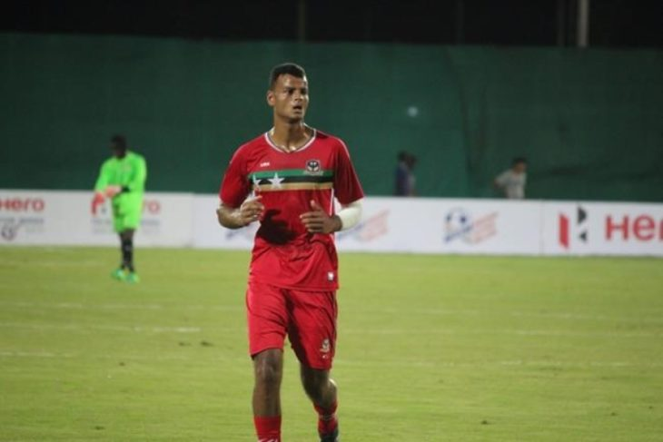 Justin Springer in action for Saint Kitts and Nevis