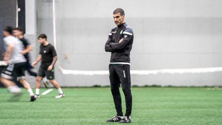 Stalteri looks on a recent York training session (David Chant / chant.ca)