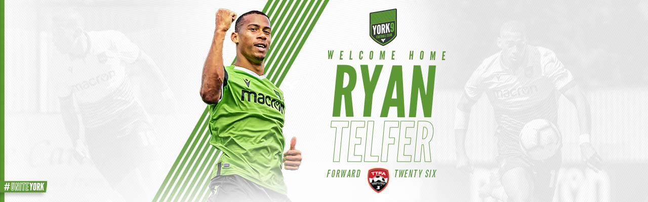 Ryan Telfer Returns to York9 FC